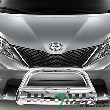 Topline For 2011-2019 Toyota Sienna Bull Bar Bumper Grille Guard - Stainless