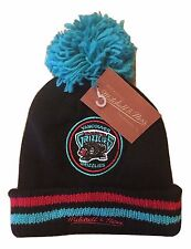 Mitchell Ness VANCOUVER MEMPHIS GRIZZLIES NBA Knit Pom Beanie Winter Hat XL NWT