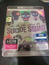 Genuine WB 4k Ultra HD Blu Ray Digital Steelbook Suicide Squad 1st CLS S&h