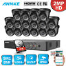 ANNKE 16CH 1080P Lite H.264+ DVR 2MP Outdoor Security Camera System Email Alert
