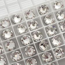 SWAROVSKI CRYSTALS 100 x SS12 CLEAR flatback diamantes rhinestones GLUE ON #2088