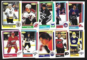 1986-87 OPC 86-87 O PEE CHEE NHL HOCKEY CARD & ERROR VARIATION 1-132 SEE LIST