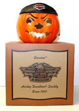 Motor Harley-Davidson Halloween Do Rag Pumpkin/Jack-o-Lantern Candle Holder RARE
