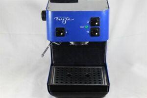 RARE Cobalt Blue ꙮ Starbucks Barista Espresso Coffee Maker Machine SIN006 In Box