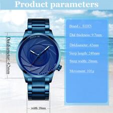 BIDEN Men Fashion Simple Sport Quartz Watch Big Dial Stainless Steel Band R3I5