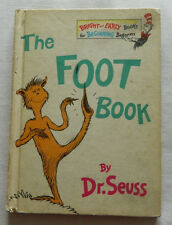 """Kids Book 1968 Vintage """"The Foot Book""""  DR. SEUSS-  Book Club Edition"""