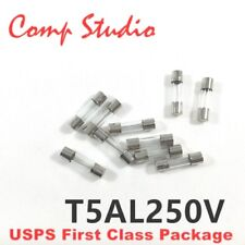 10pcs/lot 5A 250V Slow-Blow Fuse Glass Tube Time-Delay T5AL250 5mmX20mm