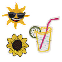 T shirt Embroidered patch Sunflower sun Applique iron on patches FT