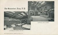TROY NY - Rensselaer Grill Room Corner and Office and Lobby Private Mailing Card