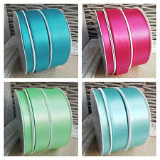 7MM X 20M LOVELY DUSKY BLUE DOUBLE SIDED SATIN RIBBON #61 X 20 METRES