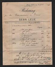 BERLIN, Rechnung 1896, Gebrüder Leue Gries Zitronenöl