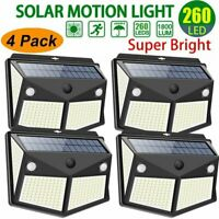 260 LED Solar Power Light Motion Sensor Outdoor Yard Garden Wall Lamp Waterproof
