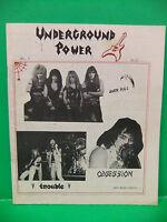 Underground Power 80s Metal Fanzine Over Kill Mercyful Fate Trouble King Diamond