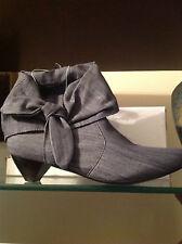 (1) Women's Denim Ankle Boots (Cuffed) Sz 8.5