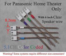 6c 8.2mm speaker connectors made for Panasonic SC/SA-BT330/BT730/BTT350/BTT750..