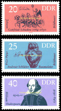 EBS East Germany DDR 1964 Famous Artists Shakespeare Michel 1009-1011 MNH**