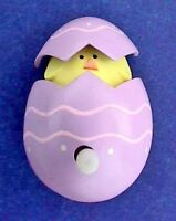 Hallmark PIN Easter Vintage WIND UP POP EGG CHICK Holiday Action Movement Brooch
