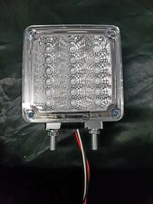 "4"" Square 2 Post LED Indicator Light Clear/Amber to suit WS,Kenworth and Mack"