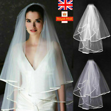 Veil Ivory White With Gold Bride Bachelorette to Be Hen Night Party Wedding UK