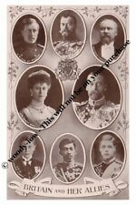 mm752 - King George V & cousin Czar & other Royal allies montage- Royalty photo
