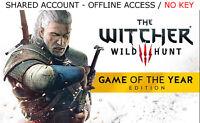 The Witcher 3 Wild Hunt GOTY PC +16 BONUS GAMES Steam OFFLINE - READ DESCRIPTION
