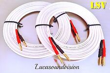 NEW QED ORGINAL HIGH PERFORMANCE AUDIO SPEAKER CABLES 2x 4.0m (Pair) Terminated
