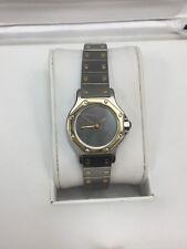 Cartier Ladies Santos Automatic Steel And Gold Round Wristwatch