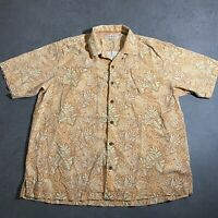 Tommy Bahama Silk Hawaiian Shirt Button Front Mens Size XL Short Sleeve