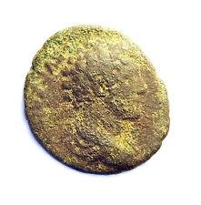 Brass Dupondius of Antoninus Pius 138-161AD - VICTORY REVERSE - SCARCE!!  #PZS20