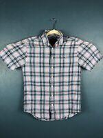 Vineyard Vines Mens Small Short Sleeve Button Up Classic Fit Tucker Shirt Plaid