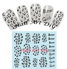 Nail art water transfer stickers-Adesivi Unglie-Ricostruzione Unghie-Manicure !!