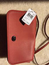 NWT COACH Glovetanned Leather Turnlock Crossbody Bag 57325 DK Terracotta