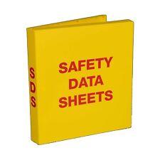 "SDS Safety Data Sheet Binder, 1.5"" Capacity, Polypropylene Rings, Fully Enclosed"
