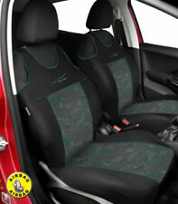 Front seat covers fit MERCEDES 190 - VEST SHAPE verlour black / green