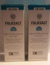 2 Falksalt Mediterranean Sea Salt fine grain 2 LB total (1lb each) FREE SHIPPING