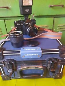 Zenit 12 Xp Camera Helios 44m 4 Lens With Helios Auto Tele Converter 3x...