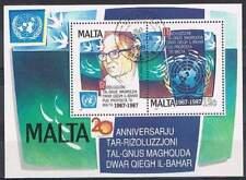 Malta 1987 gestempeld block 10 - Dr. Arvid Pardo (SG031)