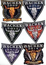 Wacken Aufkleber 2009 - 2010 - 2011 – 2012 – 2013 - 2014 unbenutzt - siehe Bild
