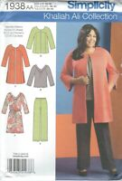 Simplicity 1938 Misses' Coat, Jacket, Pants, Dress 10 to 18   Sewing Pattern