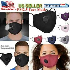 Cotton Face Mask with 2 PM 2.5 Activated Carbon Mask Filter Washable Reusable