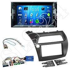 JVC KW-V235DBT Autoradio + Honda Civic VIII 2-DIN Blende schwarz + LFB-Adapter