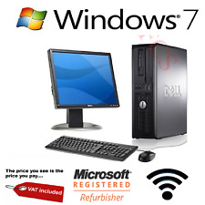"Complete Desktop PC Computer System with WiFi and Windows 7 Pro 4GB RAM 17 "" TFT"