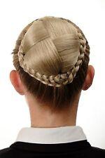 Dutt Haarteil aufwendig geflochten Haarknoten Tracht Blond Aschblond N796-22