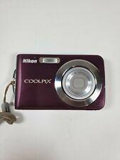 Nikon COOLPIX S210 8.0MP Digital Camera - Plum Bundle NO battery or Charger