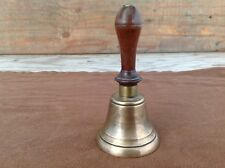 Cool Vintage Wood Handle Brass School Bell