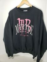 Vintage 80s 90s Myrtle Beach South Carolina Sweatshirt Pullover XL Black MB