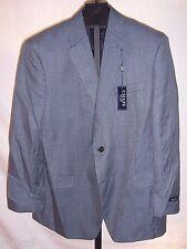 Nwt Chaps Blue & Gray Herring Bone Polyester Suit Jacket Mens Size 44 Regular