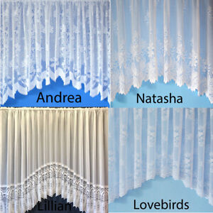 White Net Curtain - Sold by Yard - new cheap discounted price - luxury lace