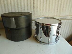 Vintage Slingerland TDR 15X12 Chrome Wood Marching Snare Drum w/Case Nice Shape