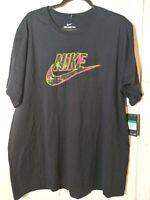 Nike Sportswear Limeade Futura T-Shirt Black CN6318-010 Men's Size X-Large NWT